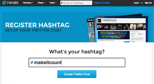 Twubs ermöglicht es mithilfe des Chat Managment Tools über das Gezwitscher eines Hashtags zu diskutieren.