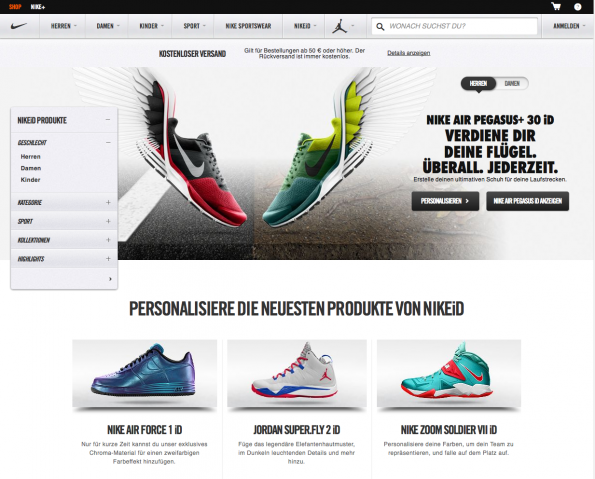 (Screenshot: Nike ID)