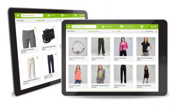 Die Digital-Store-App dient dem Verkäufer im Laden als Beratungsunterstützung. (Screenshot: Demandware)
