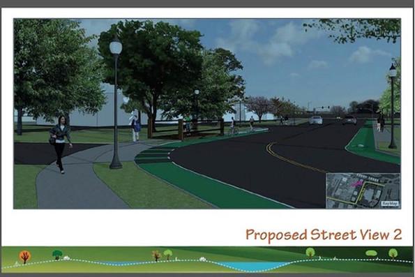 Facebook: Das geplante Gelände in der Street-View-Ansicht. (Bild: Facebook)