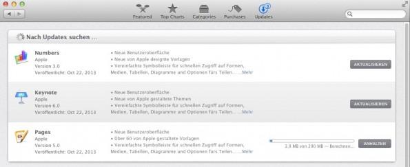 Nutzer können mit einer kostenlosen Testversion auf die neuste Version von Apples Office-Suite iWork aktualisieren.
