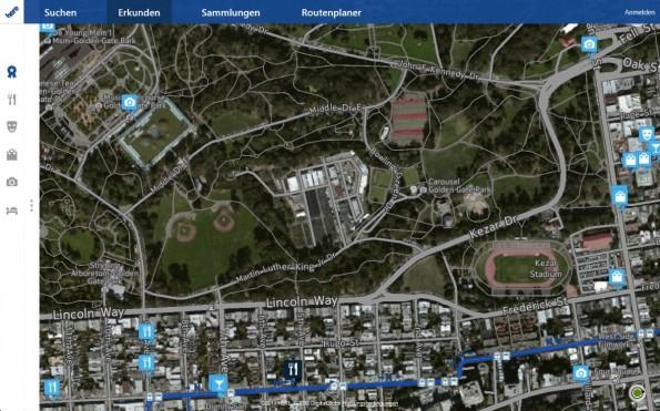 Nokias HERE Maps ist eine hervorragende Karten-App inklusive Routenplanung und Satellitenfotos.