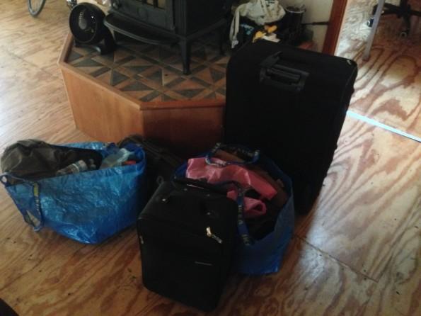 Mein Reisegepäck: Viel zu viel Ballast.