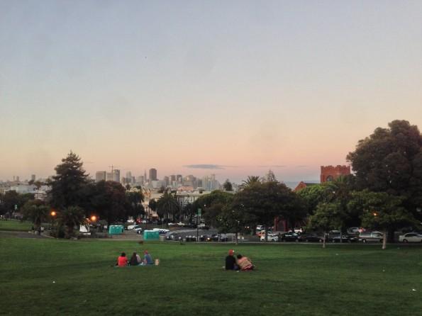 Blick vom Mission Dolores Park über San Francisco: Hier sind die Leute gegenüber Technik deutlich aufgeschlossener.