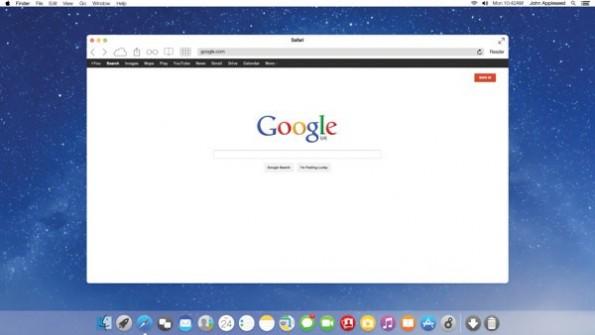 Ein weiterer Vorschlag für OS X im Flat Design. (Bild: