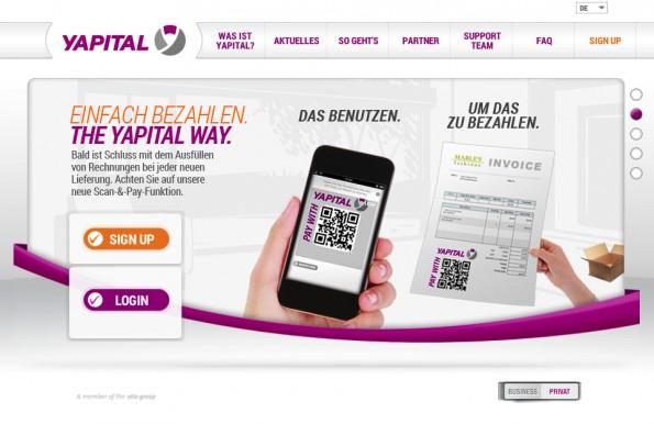 Mit Yapital kann bald in allen Rewe-Supermärkten bezahlt werden. (Screenshot: Yapital)