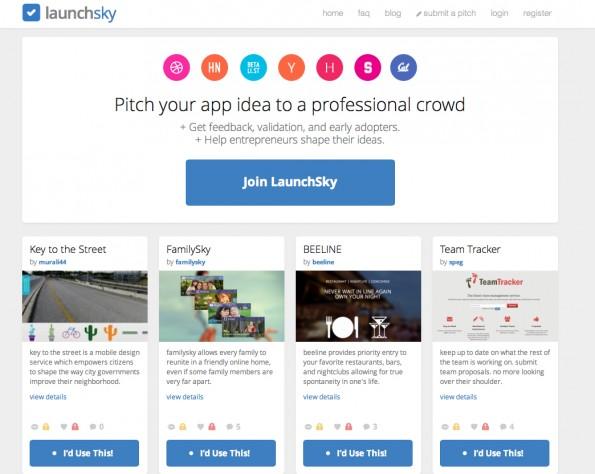 Ideen auf LaunchSky werden fleißig kommentiert – das gibt Feedback. 19 US-Dollar kostet ein Eintrag. (Screenshot: LaunchSky)