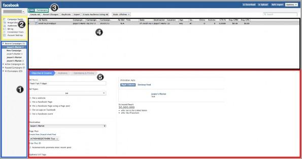 Der Power-Editor ist in fünf Teile aufgeteilt. (Screenshot: Facebook)