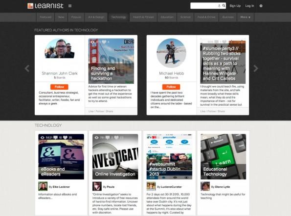 Mit learni.st  gibt es zumindest eine Plattform die dem Pinterest-Geist folgt und diesen für eine große Nische weiterdenkt. (Screenshot: Learni.st)