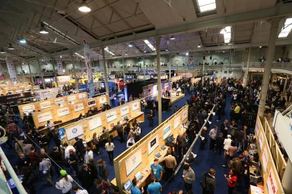 Startups bekamen besonders viel Raum. (Foto: Dublin Web Summit)