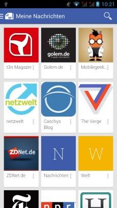 """In Deutschland ist der """"Google Play Kiosk"""" leider nur ein aufgebohrtes Google Currents. (Screenshot: Google Play Kiosk App)"""