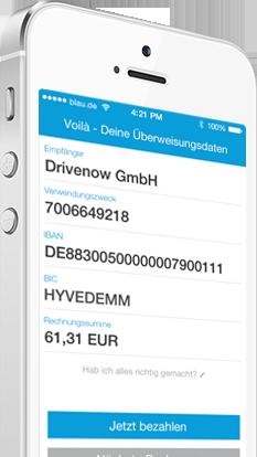 Banking-Apps: gini als Tool zum Zahlen von Rechnungen? (Bild: gini)