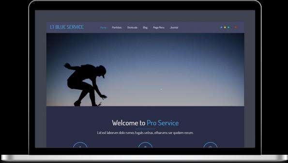LT Blue Service Joomla Template