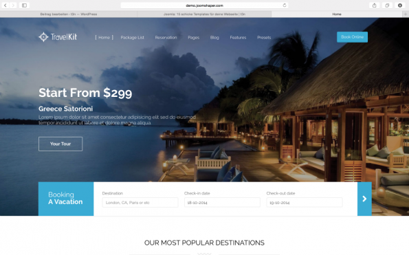 Travel Kit Joomla Template