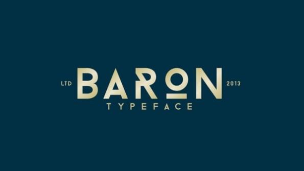 Baron stammt von dem Holländer Frank Hemmekam und kann für private wie auch kommerzielle Projekte kostenfrei genutzt werden. Auf seiner Behance-Seite, bittet er lediglich, dass man ihm auch ein Beispiel von der Nutzung seines Fonts per Mail zuschickt. (Bild: Behance)