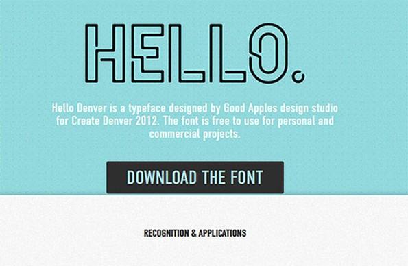 Die Schriftart wurde 2012 von dem Design-Studio Good Apples erstellt und kann jetzt kostenfrei in privaten wie auch kommerziellen Projekten eingesetzt werden. (Bild: Good Apples)