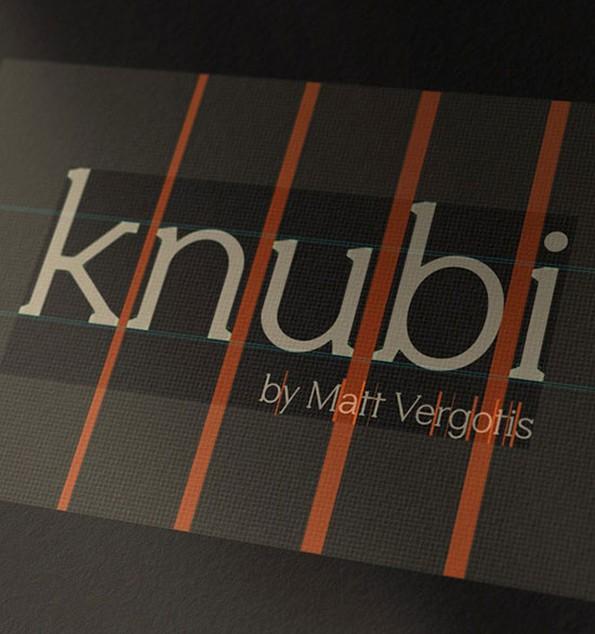 Knubi besteht aus 380 Glyphen und unterstützt 80 Sprachen. Erstellt wurde Knubi von dem Designer Matt Vergotis. (Bild: verg.com.au)