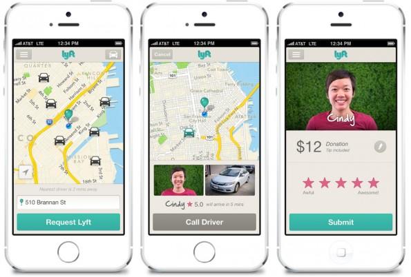 Die Lyft-App für iOS und Android ist kinderleicht zu bedienen. (Quelle: lyft.com)