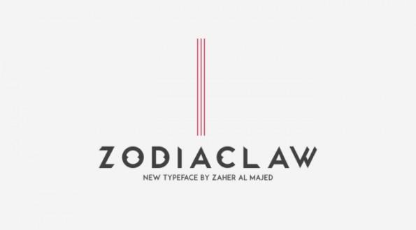Der kostenlose Font Zodiaclaw stammt von dem Designer Zaher Al Majed. Seine Inspiration sollen die Krallen eines Löwens gewesen sein. (Grafik: Zaher Al Majed)