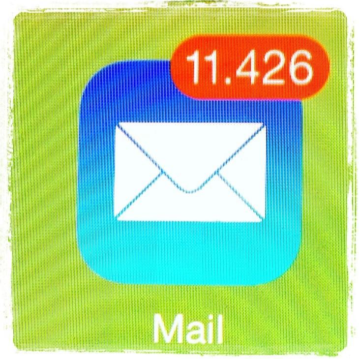 Wir bekommen alle zu viele E-Mails. (Quelle: Timo Stoppacher)