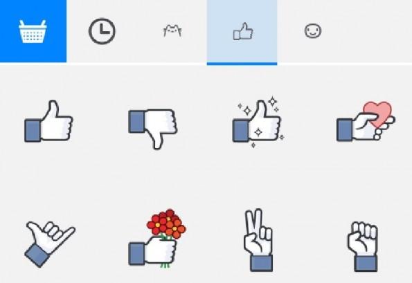 Facebook-Dislike-Button: Über Umwege per Sticker im Chat. Na immerhin.