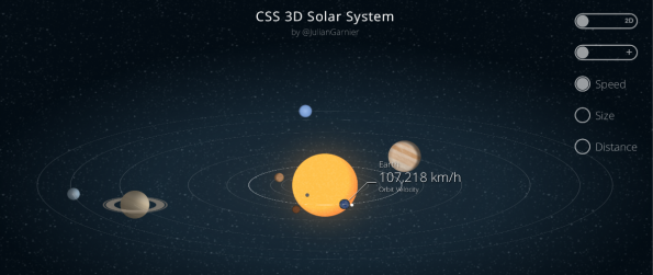 3D Sonnensystem mit CSS