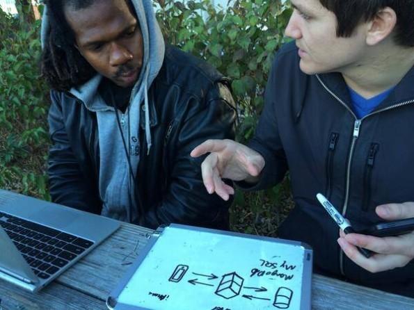 Leo Grand und Patrick McConlogue bei ihrem täglichen JavaScript-Unterricht. (Quelle: journeymancourse.com)