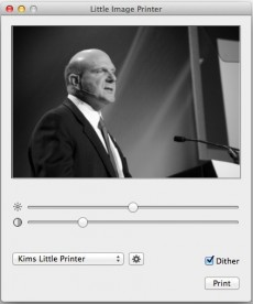 Little Image Printer für OS X. (Screenshot: Little Image Printer)
