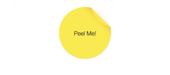 Abziehbarer CSS-Sticker