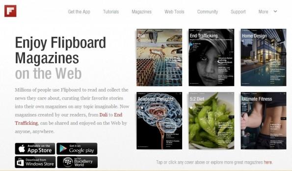Paper könnte sich auch in Sachen Design an Flipboard orientieren. (Screenshot: flipboard.com)