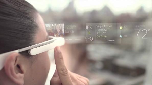Google Glass: So soll die Zukunft aus Sicht des Internetkonzerns aussehen. (Foto: Google)