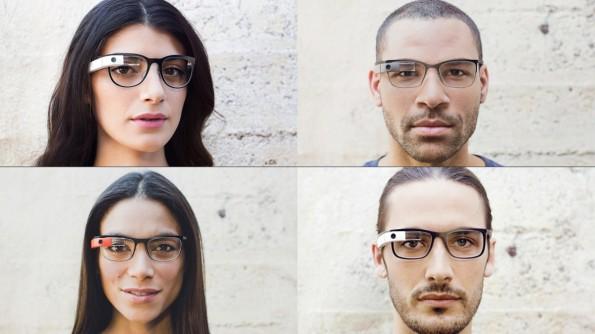 Die neuen Google-Glass-Modelle im Vergleich: Curve, Split, Thin und Bold (v. l. o.) (Quelle: google.com/glass)