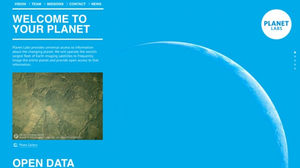 """Das Startup """"Planet Labs"""" will mit 32 Satelliten die """"weltweit größte Trabanten-Flotte"""" im All unterbringen. (Screenshot: Planet Labs)"""