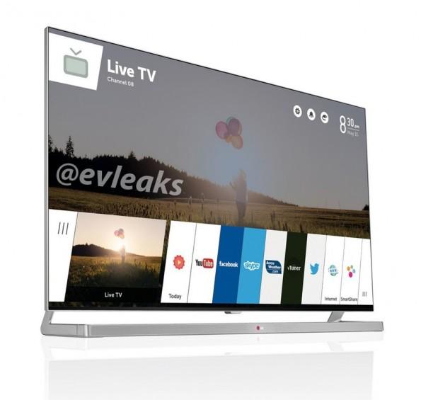 SmartTV: LG soll in wenigen  Tagen einen Fernseher mit webOS in Las Vegas vorstellen. (Bild: @evleaks / Twitter)