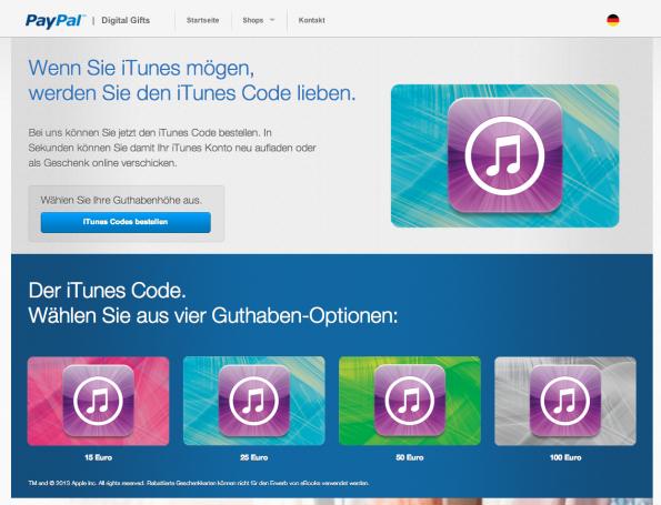 Nähern sich Apple und PayPal in Bezug auf Zahlverfahren? (Screenshot: PayPal.de)
