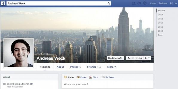 """10 Jahre Facebook: """"Na endlich, du Mitläufer!"""" (Screenshot: Facebook)"""