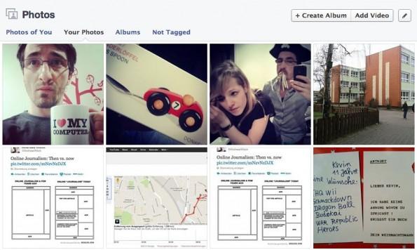 Bilder, Videos und Statusupdates: Die Jahre auf Facebook hinterlassen Spuren. (Screenshot: Facebook)