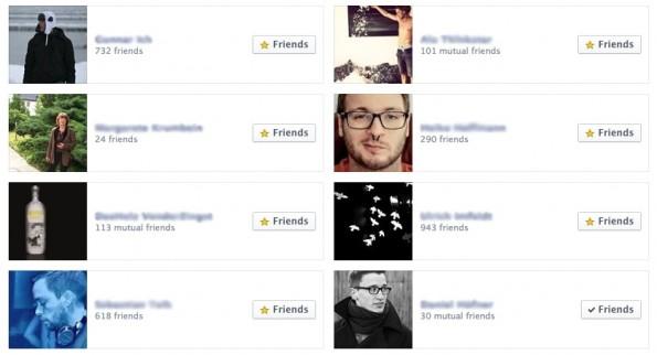 Freunde kommen und Freunde gehen – aber nicht auf Facebook! (Screenshot: Facebook)