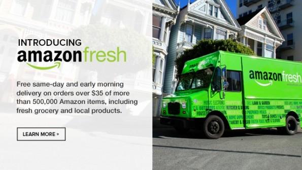 Amazon Fresh: Ab September 2014 könnte der Versandriese auch in Deutschland frische Lebensmittel ausliefern. (Bild: Amazon)