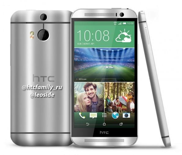 Eine Fotomontage auf Basis aktueller Gerüchte zum HTC One 2. (Quelle: twitter.com/HTCFamily_RU)