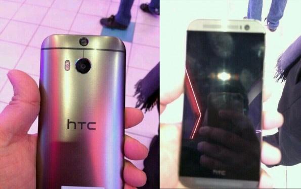 Dieses Bild aus einem russischen Twitter-Channel zeigt angeblich das HTC M8, welches als One+ oder One 2 auf den Markt kommen soll. (Quelle: twitter.com/HTCFamily_RU)