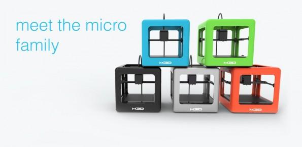 Der M3D wird in fünf Farben und bereits ab 150 Euro für schnelle Kickstarter-Backer verfügbar sein. (Quelle: themicro3d.com)
