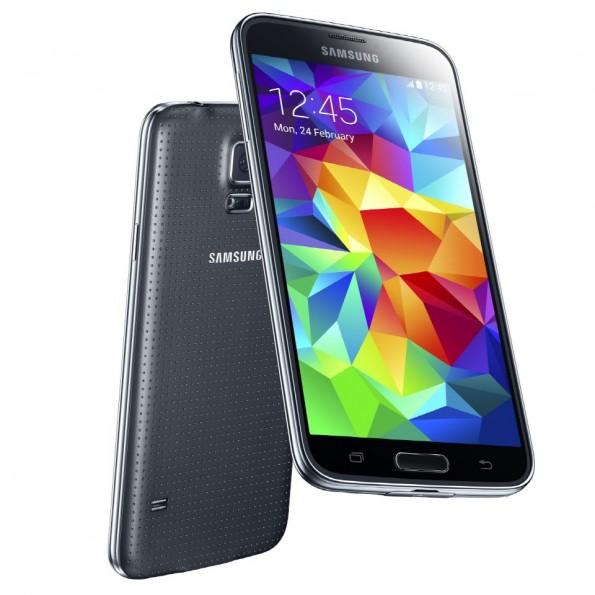 Das Galaxy S5 kommt im gewohnten Samsung-Look daher und ist noch einmal etwas gewachsen im Gegensatz zum Vorgänger. (Quelle: Samsung)