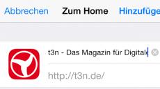 WebApp Installieren