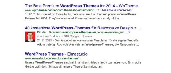 So gelingt eine höhere CTR auf Google durch das Author-Markup. (Screenshot: google.de)