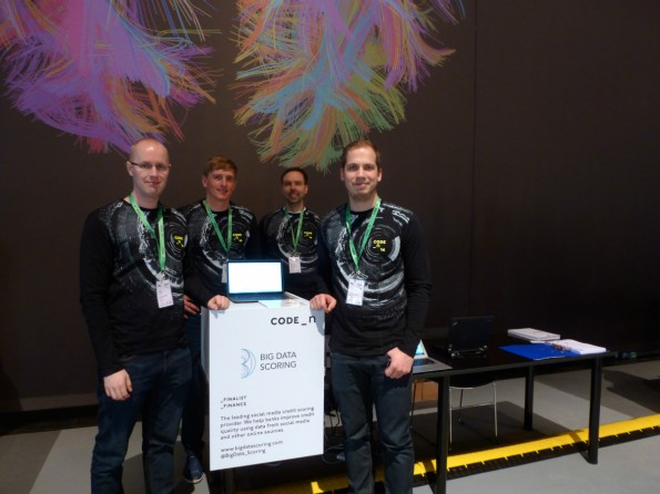Vertreten Big Data Scoring auf der CeBIT (v.l.): Janne Liuttu, Meelis Kosk, Juha Palomäki, Erki Kert. (Foto: t3n)