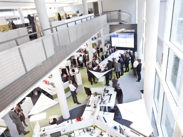 Content-Marketing bei Siemens: der Newsroom. (Foto: Siemens)
