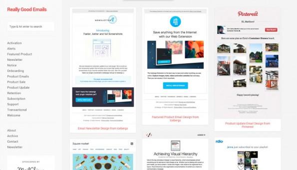 E-Mail-Design: Es kann nie schaden, sich von gelungenen Beispielen inspirieren zu lassen. (Screenshot: reallygoodemails.com)