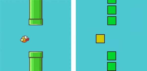 Original vs. Fälschung: Flappy Bird als Browser-Game. (Bild: Thomas Palef)