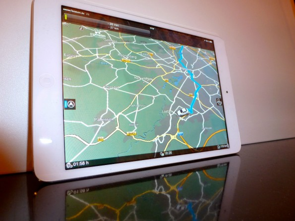 So sieht der Prototyp des Navigationssystems von Graphmasters und Bosch aus. (Foto: t3n)